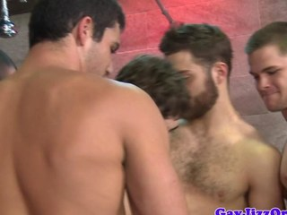 Robust plan b mask groupfuck twink in shower