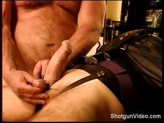 Slave gets some nasty torture from his skillful on his cock coupled with balls