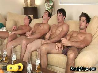 Super hot studs in blithe foursome
