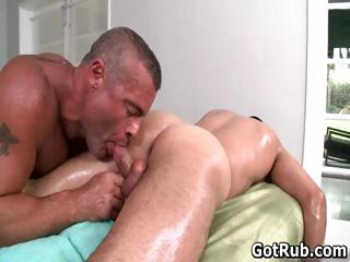 Hot person get his amazing body massaged part6