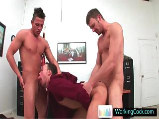 Stupefying gay twosome some at the office by workingcock