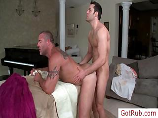 Massage hustler riding his clients cock by gotrub
