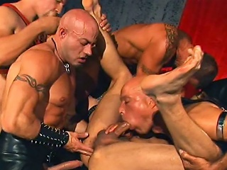 Leather Daddies Pack Banging Brad Benton...