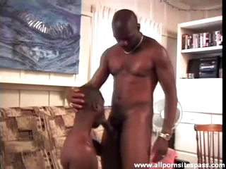 His black cock comes out and gets a pleasurable BJ