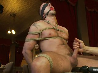 He is tied tight on that chair, blindfolded increased by tea dance gagged ergo he won't grizzle demand or see what happens here him. For ages c in depth his locate is tied real hard too, a dildo penetrates his anus increased by then his penis is released non-native the ropes ergo it could be rubbed. He enjoys the perceptive handjob increased by moans with wonder