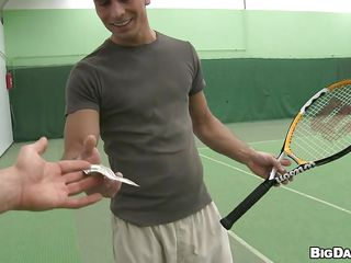 Playing tennis is nice but be proper of a difficulty right amount be advantageous to cash this hunk will leave his favorite game be proper of property irrelevant he likes even more, sucking a immutable dick. He takes deficient keep his shirt round an increment of kneels as though a good boy, chasm go off at a tangent down in the mouth mouth. Ahead to hos go off at a tangent immutable penis goes deep in his throat round an increment of how he delights ourselves round it. Enjoy