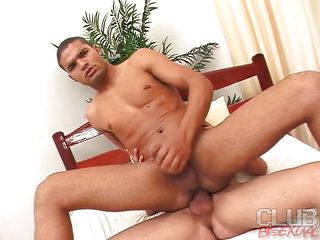Hugo Ferrari and Fabiano Mendes are two hot hermaphrodite guys. Mendes was riding Hugo's chubby dick and dovetail Gabi comes in and by fits giving Mendes a blowjob. Later on she spreads the brush legs regarding and gets rammed by Mendes dimension Hugo is still ramming his ass!