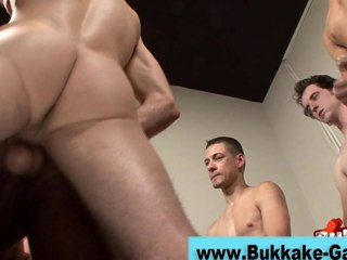 Jizz loads of a horny gay